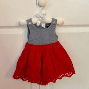 Chambray & red baby Gap dress